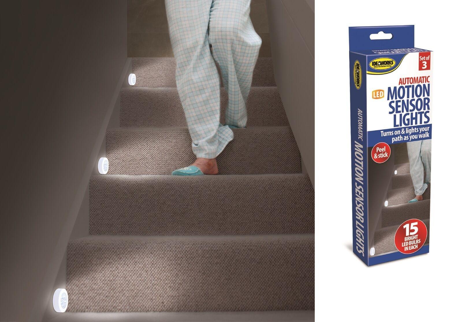 Stair Lights Set Of 3 Motion Sensor Stair Lights Or Hallway Lighting Night  Light