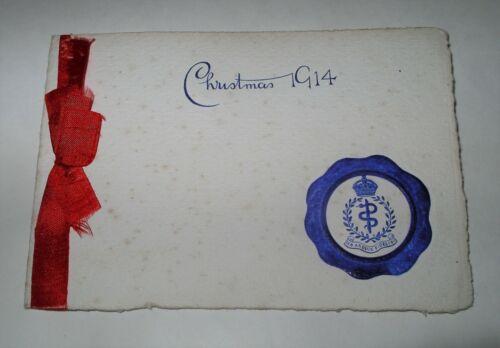 WW1 RAMC 1914 Xmas Card 27th FIELD AMBULANCE