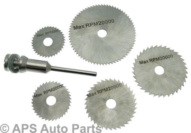 New 6pc HSS Saw Discs Circular Saw Cutt Off Rotary Tool Drills Dremel