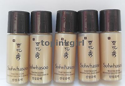 Sulwhasoo Timetreasure Renovating Emulsion Ex 8pcs, Lotion Amore Pacific New