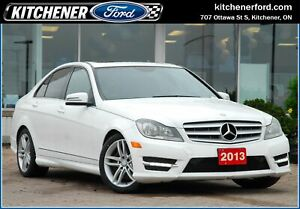 2013 Mercedes-Benz C-Class AWD/LEATHER/SUNROOF/ONLY 129K KM'S!