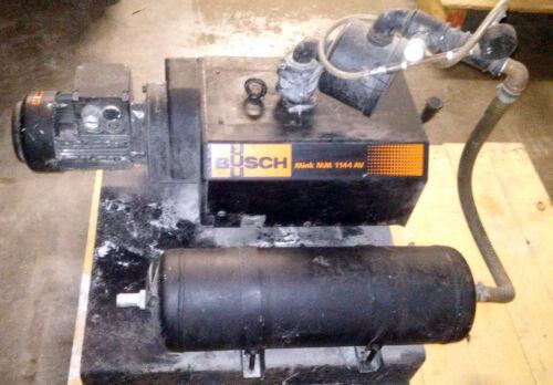 1 USED BUSCH MINK MM1144.AV03.1001 VACUUM PUMP W/ PRESSURE TANK & FILTER