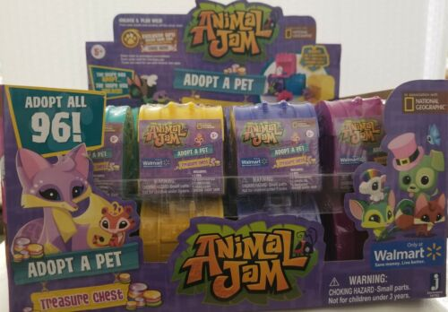 Animal Jam Adopt A Pet Treasure Chests Mystery Case of 24 For Sale - 1