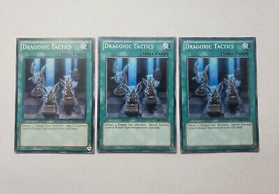 3x Dragonic Tactics Yugioh Spell Cards The Best Magic Bundle Set A Good