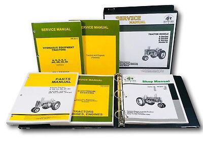 Service Parts Manual Set For John Deere A Aw Ah An Ar Ao Tractor Catalog Shop