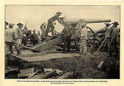 Transvaalkrieg/ Maseking 15 cm Belagerungsgeschuetz Treuzot der Buren Bildd.1900