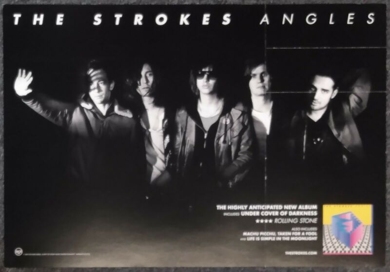 The Strokes Angles 2011 DOUBLE-SIDED PROMO POSTER