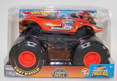 2020 Hot Wheels 1:24 TWIN MILL - Dual V8s -Orange - Diecast Monster Truck - NEW