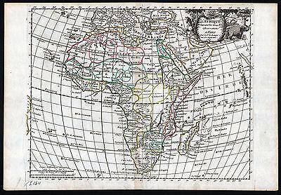 AFRIKA - Landkarte Le Rouge von 1748 - schönes Original!