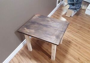 Hand Made Stained Wood Side Table