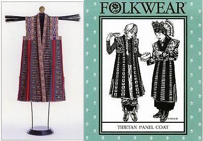 Folkwear Tibetan Panel Coat - Long Vest, Sleeveless Coat 6-18 Sewing Pattern 118
