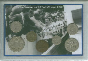 Bolton-Wanderers-The-Trotters-Vintage-F-A-Cup-Final-Winners-Coin-Gift-Set-1958