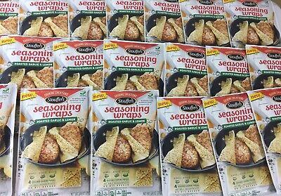 Stouffer's Seasoning Wraps Roasted Garlic & Lemon Lot Of 20 Best Before Sep