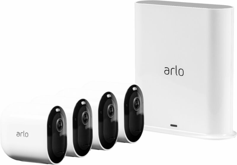 Arlo - Pro 3 4-Camera Indoor/Outdoor Wire-Free 2K HDR Security Camera System ...