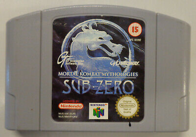 Gioco Game Console N64 NINTENDO 64 PAL UKV - Mortal Kombat Mythologies Sub-Zero