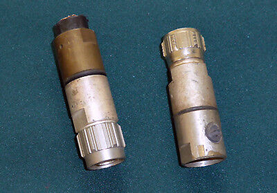 2 x used Spinner  BN 87 01 18 Male  N Type  connectors
