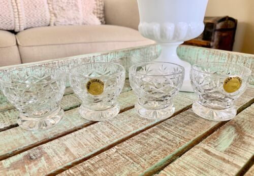 Webb Corbett Crystal Small Whiskey Glasses Footed Shot Glass Westminister