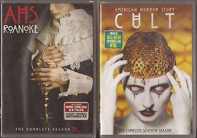 American Horror Story Complete Season 6 & 7 - DVD TV Six Seven BRAND NEW   (Halloween Action Stories)