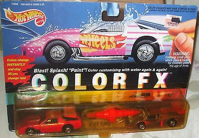 1993 Hot Wheels Color FX Race Cars Camaro Racer & GT Racer Malaysia 4+ Diecast - Color Race Cars