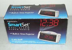 New!! EMERSON RESEARCH #CKS53516 Dual Alarm Clock SMART SET Radio TIME PROJECTOR
