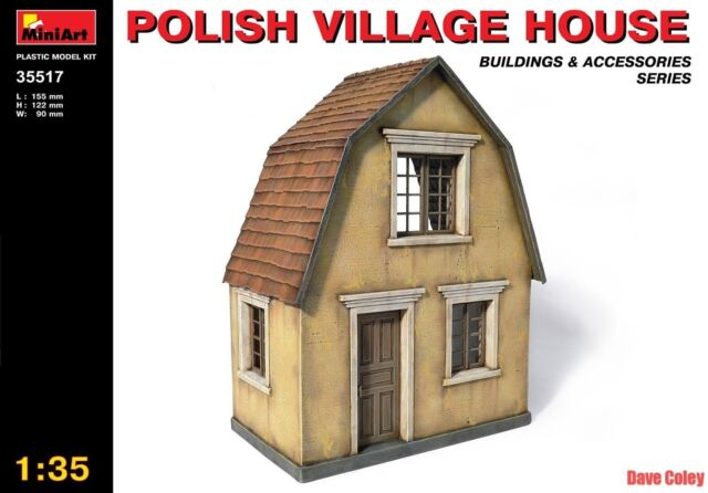 Miniart 35513 1:35th scale Polish Village House Buildings & Accessories Series