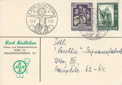 Österreich Christkindl Sammlung 42 Belege 1953-1994 Schnäppchen!!!