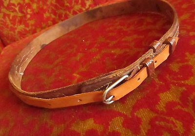 26 27w True Vtg Womens LEATHER Ranger/Cowboy Belt Hand Fashioned 60s 70s USA