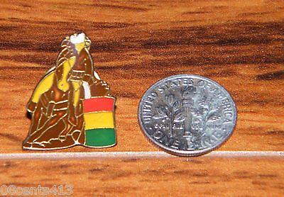 Horse And Rider Costumes (Vintage Barell Racing Horse and Rider Pin / Brooch Brown Red Yellow Green)