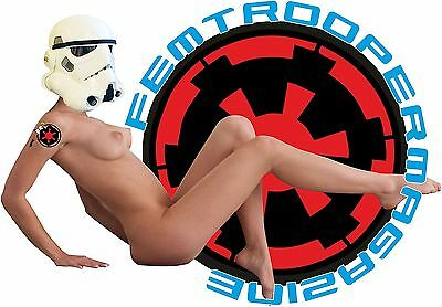 PIN UP GIRL STORMTROOPER T SHIRT FEMTROOPER ON COVER OF EMPIRE MAGAZINE