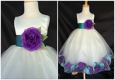 Mardi Gras Party Attire (Mardi Gras Flower Girl Bridesmaid Party Recital Pageant Toddler Girl Dress)