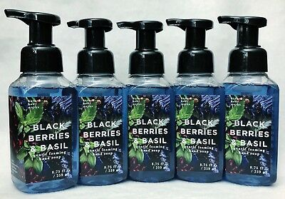 (5 Bath & Body Works BLACKBERRY BASIL Gentle Foaming Hand Soap)