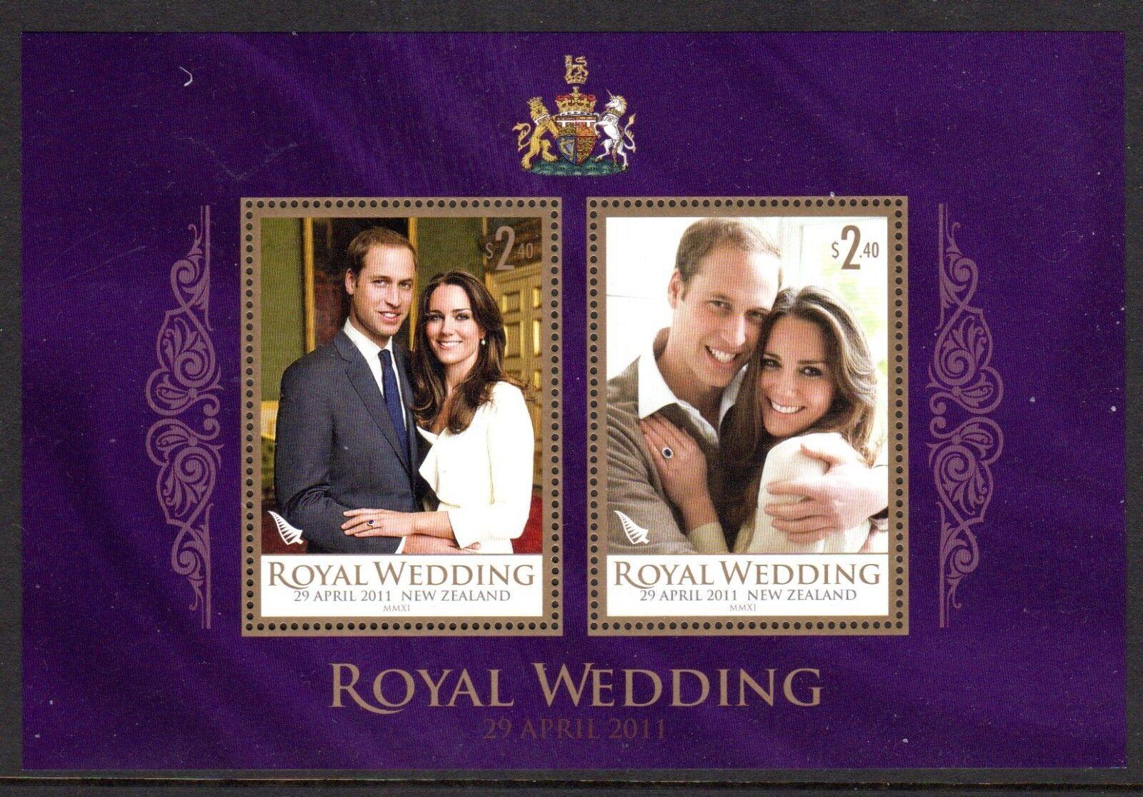 2011 NEW ZEALAND ROYAL WEDDING minisheet SG3268 mint unhinged