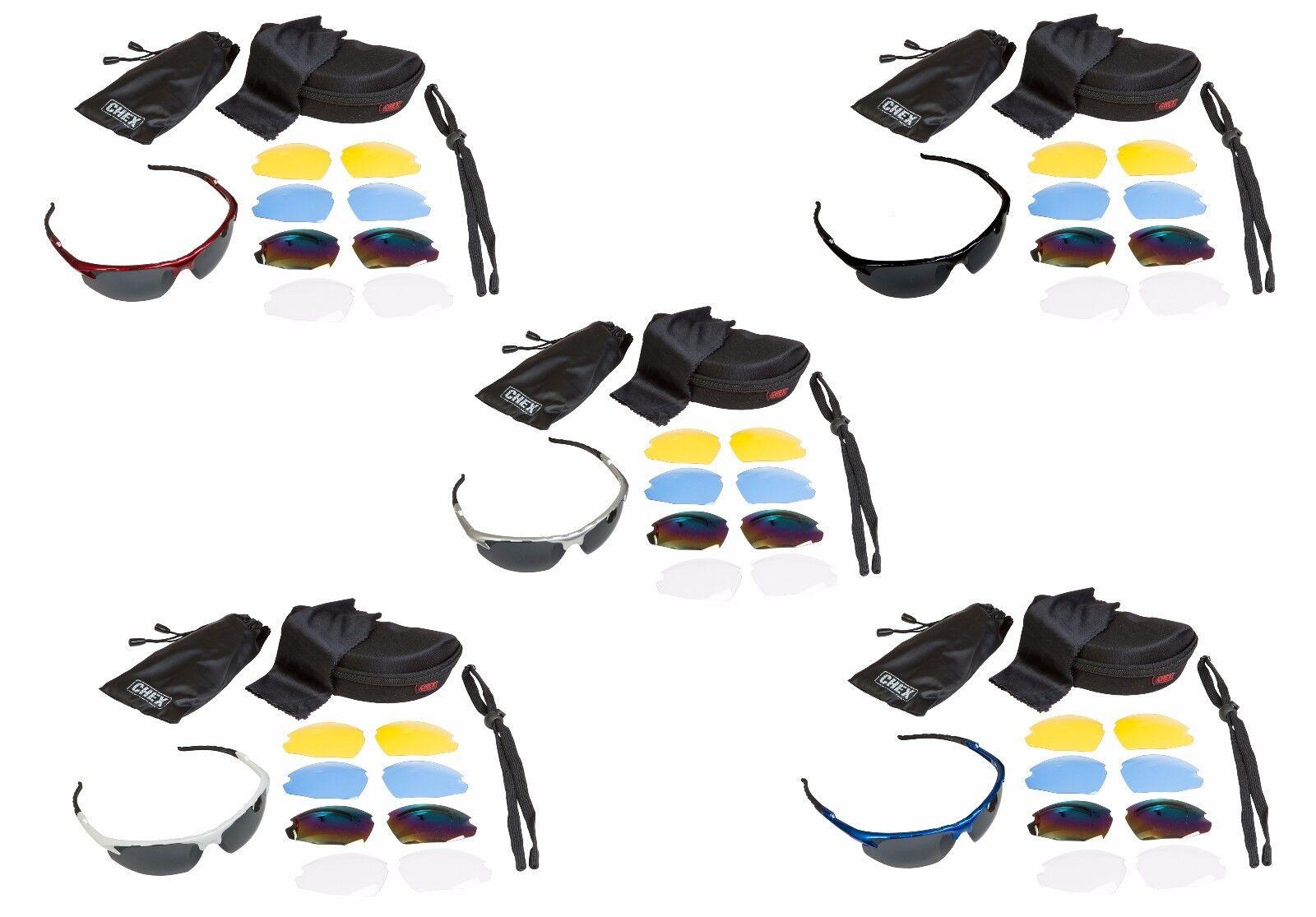 Chex Ace Herren Jungen Sonnenbrille Sportbrille 5 Gläser Sets inklusive Getönte