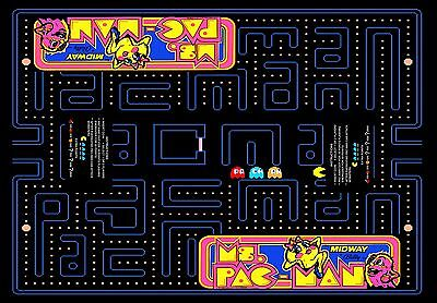Arcade Classics Cocktail Table Underlay Ms. Pac-Man 23