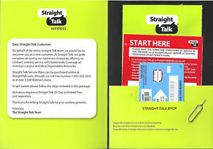 Straight Talk Nano SIM Card for AT&T Tower GSM Network Activation Kit