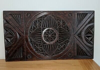 Early 18th Century Chip Carved Oak Panel