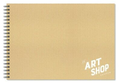 The Art Shop Skipton Cartridge Paper Kraft Cover Sketchbook A3 (40 Sheets)
