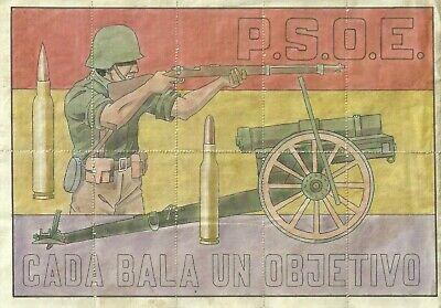 2114 PSOE CADA BALA UN OBJETIVO CASA DEL PUEBLO-ALCORA CUPONES RACIONAMIENTO segunda mano  Embacar hacia Argentina