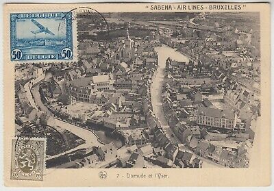 BELGIUM 1931 SABENA *ANVERS AERIAL POST EXHIBITION* official illustrated pc