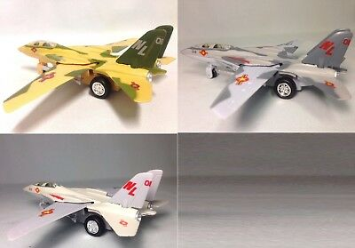 """3PC SET: 7"""" F-14 Tomcat Diecast US Navy Model Fighter Jet Airplane Toy Licensed for sale  Los Angeles"""