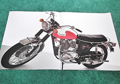 ORIGINAL 1973 TRIUMPH T100R DAYTONA 500 MOTORCYCLE BROCHURE FOLDER POSTER