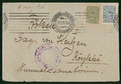 Mayfairstamps Finland 1916 Helsinki Dual Frank Cover wwo89165