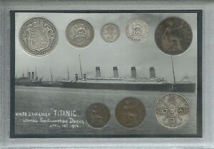The-Sinking-of-RMS-Titanic-White-Star-Line-Full-Antique-Coin-Year-Gift-Set-1912