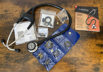 3m Littman Cardiology Iii Stethoscope Black With Accessories Manual Free Ship