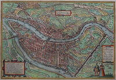 Lyon - Lugdunum -  Braun und Hogenberg - Originaler Kupferstich von 1572