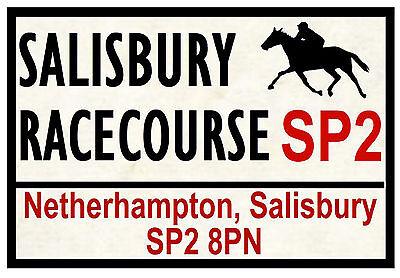 HORSE RACING ROAD SIGNS (SALISBURY) - FUN SOUVENIR NOVELTY FRIDGE MAGNET  GIFTS