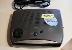 Old New Stock~ PHILIPS MAGNAVOX Dual Alarm CLOCK RADIO FM-AM AJ3280 / 17