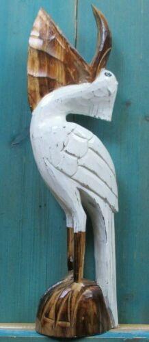 PELICAN WOOD CARVED HAWAIIAN ISLAND BEACH ISLAND BIRD HOME DECOR TROPICAL