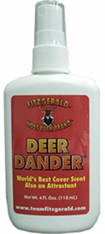 Team Fitzgerald Deer Dander Cover Scent & Attractant 4oz Spray