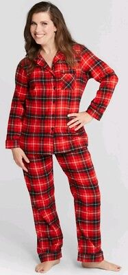 Wondershop Target Women's Plaid Christmas Pajama, Red, Choice of Sizes